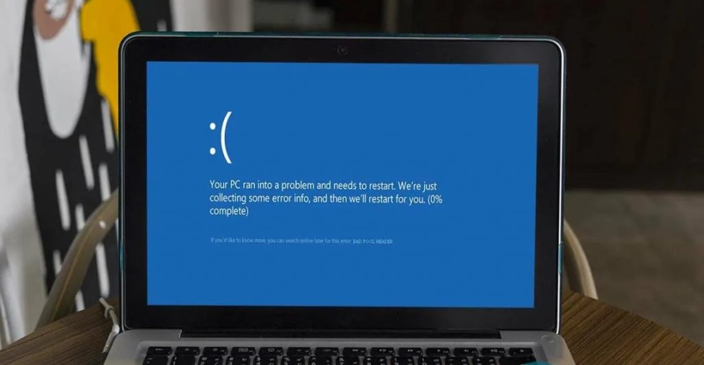 Cómo Solucionar un error Bad Pool Header de BSOD en Windows