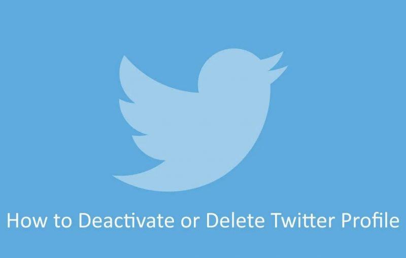 Cómo desactivar y eliminar una cuenta de Twitter