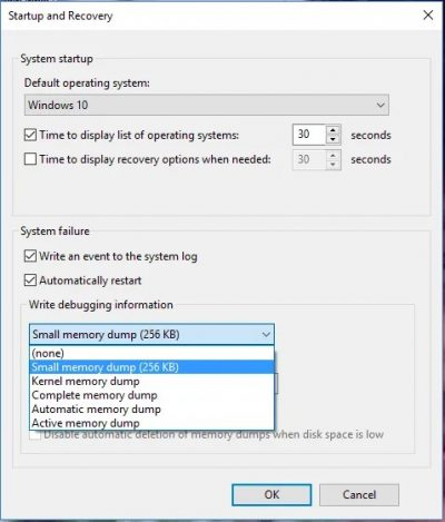 Cómo configurar Windows para crear un pequeño volcado de memoria y leerlo